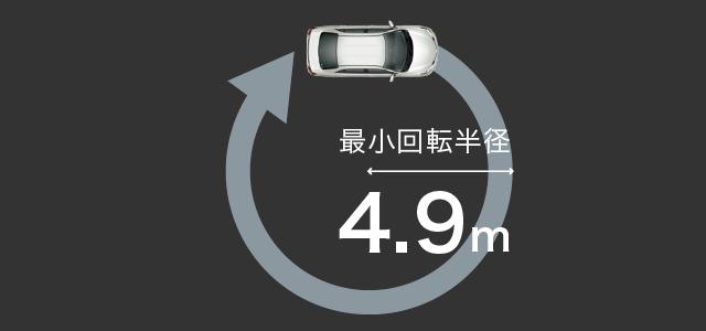 最小回転半径4.9m