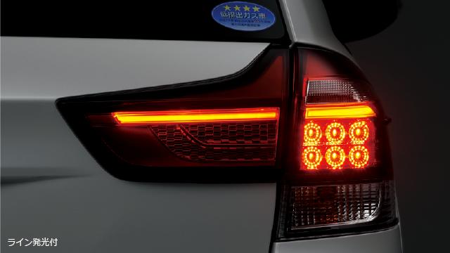 LEDリヤコンビネーションランプ ライン発光付