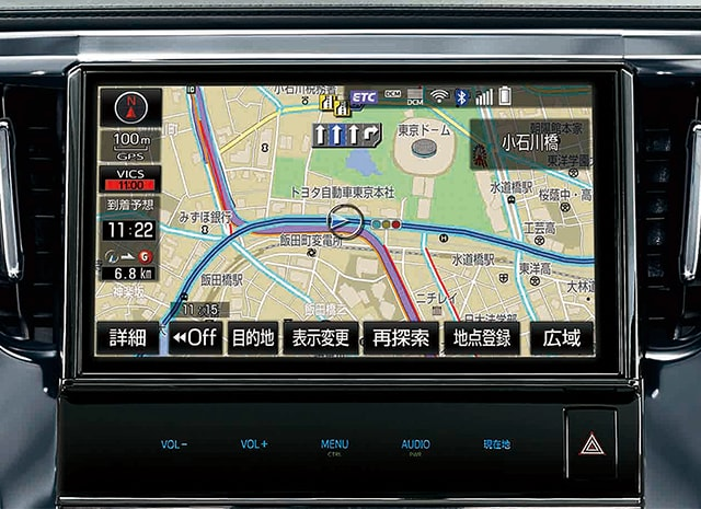 必要な情報をわかりやすく表示して、ドライブをサポート。