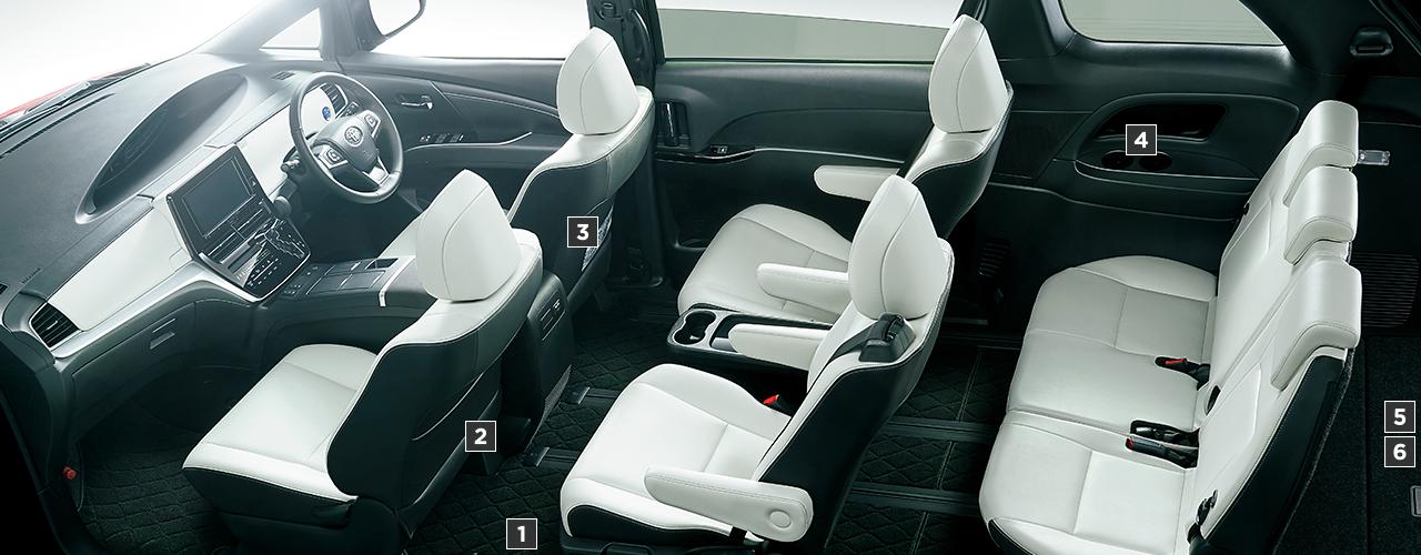 トヨタ エスティマ | 室内・インテリア | 室内装備 | トヨタ自動車WEBサイト