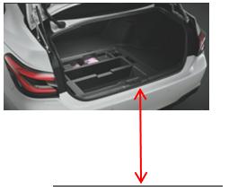トランクを開けた時の地面からトランク開口部の一番下端までの高さ