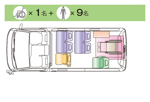Cタイプ ロングボディのみ(車いす1名+9名)