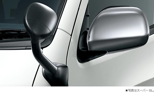 電動格納式リモコンドアミラー(助手席側ワイドビュー)+フロントアンダーミラー■写真はスーパーGL。