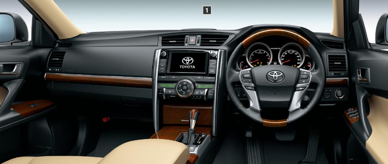 PREMIUM(3.5L)。内装色はアイボリーブラック。オプション装着車