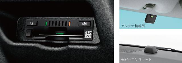 ETC2.0ユニット(ビルトイン)ナビ連動タイプ