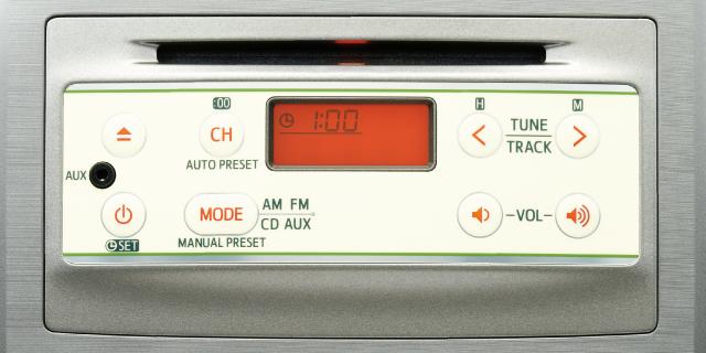 インテグレートCD・AM/FM付ステレオ(CD-R/RWに対応)&10cmフロントスピーカー+AUX端子