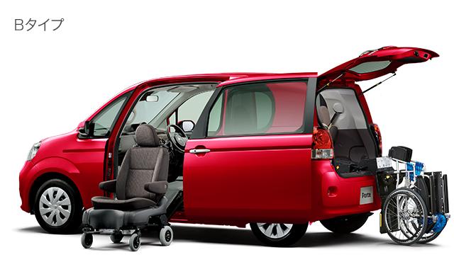 サイドアクセス車 脱着シート仕様〈手動式〉+車いす収納装置〈電動スライド式・35kgタイプ〉Bタイプ