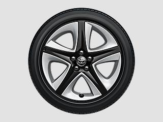 215/45R17タイヤ&17×7Jアルミホイール(ブラック塗装・樹脂加飾パーツ+センターオーナメント付)