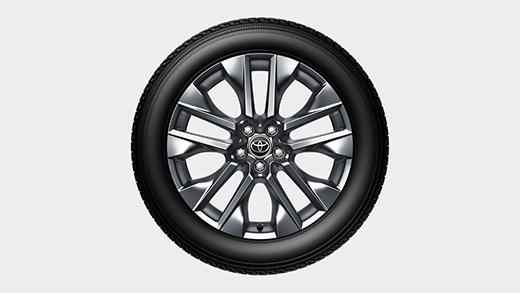235/55R19タイヤ&19×7 1/2Jアルミホイール(スーパークロームメタリック塗装) ※トヨタ公式サイトより