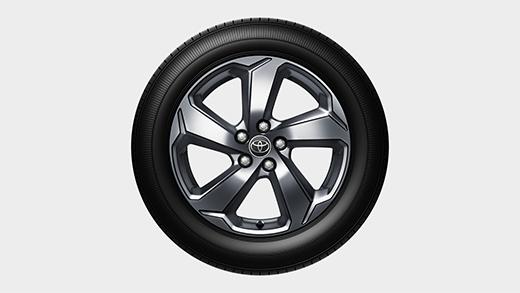 225/60R18タイヤ&18×7Jアルミホイール(スーパークロームメタリック塗装) ※トヨタ公式サイトより