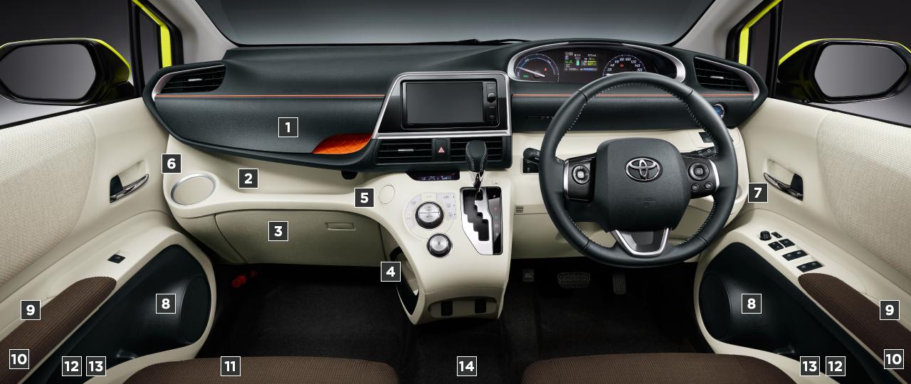 トヨタ シエンタ 室内・インテリア 室内装備 トヨタ自動車webサイト