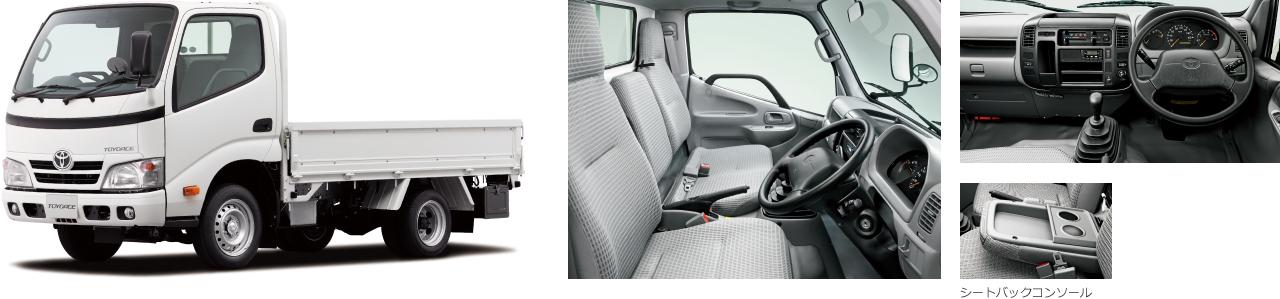 2WD・標準デッキ・ジャストロー・1.5トン積・3.0Lディーゼル車。ボディカラーはホワイト〈058〉