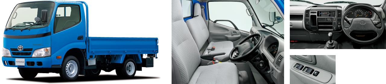 """2WD・標準デッキ・ジャストロー・1.5トン積・3.0Lディーゼル車・""""Eパッケージ""""装着車。ボディカラーはブルー〈8P0〉。"""