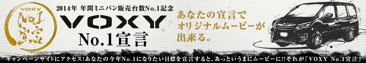 VOXY NO.1 宣言