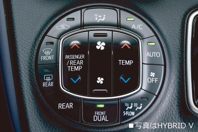 フロントオートエアコン(左右独立温度コントロール)