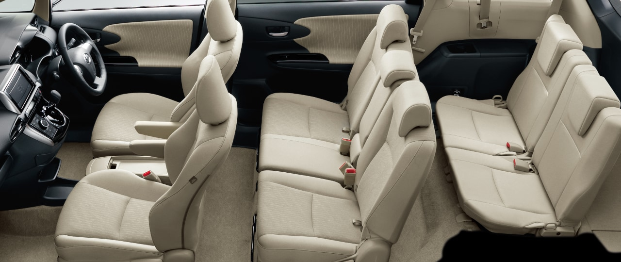 7Seater[1.8S、1.8A、1.8G、1.8Xに標準設定]